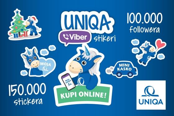 Kupovina osiguranja putem UNIQA Viber Bota osvježena novim stickerima!